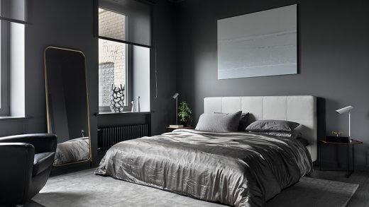 Спальни в серых тонах